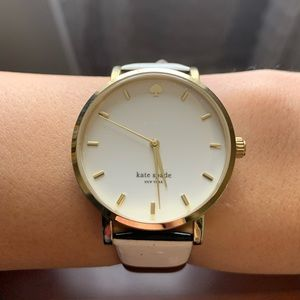 Kate Spade Black and White Striped Watch